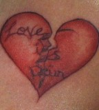 Love Is Pain Tattoo
