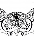 Owl Tribal Henna Tattoo Design