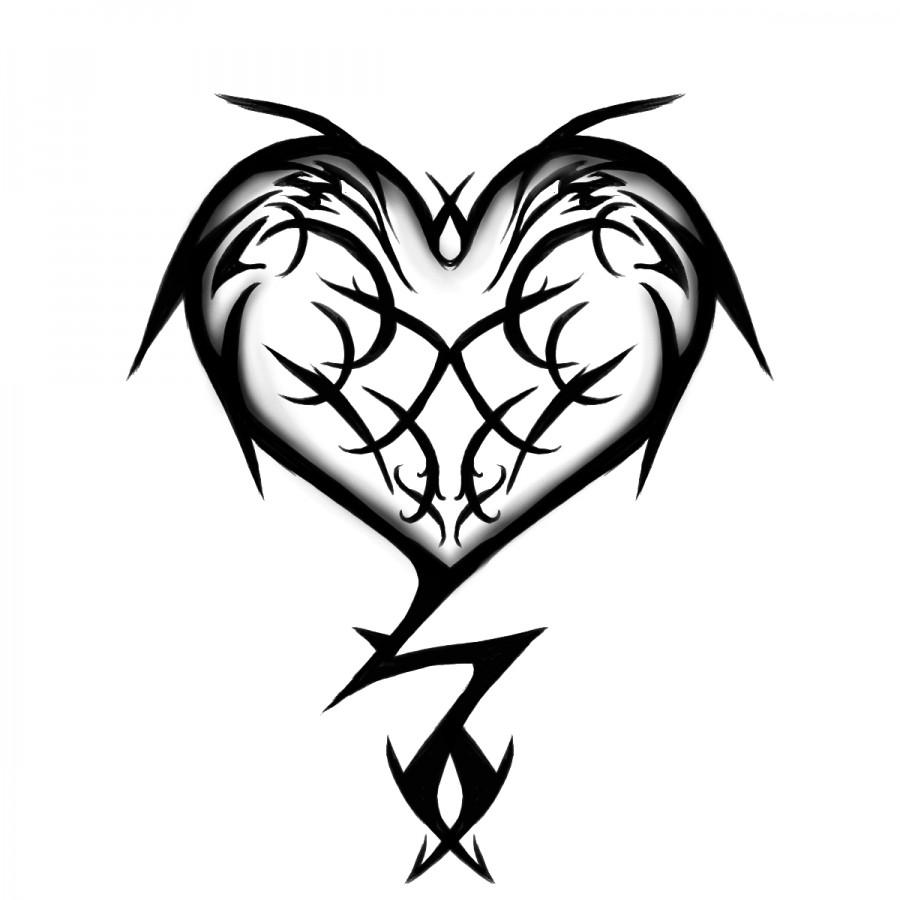 Tribal Heart Tattoo Design Tattoomagz