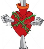 Vector Tattoo Broken Heart Illustration