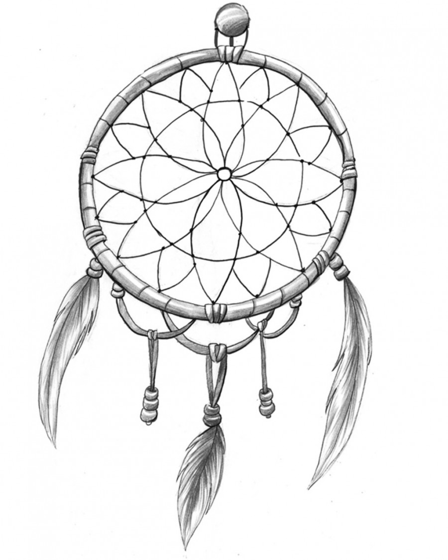 Simple Inkwear Dream Catcher Tattoo Love Sketch Tattoomagz