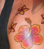 Overwhelming Hawaiian Flower Tattoo Design