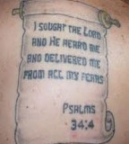 Bible Quote Tattoos And Designs Bible Phrase Tattoo