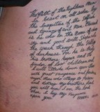 Bible Verses Tattoo Design on Ribs for Men