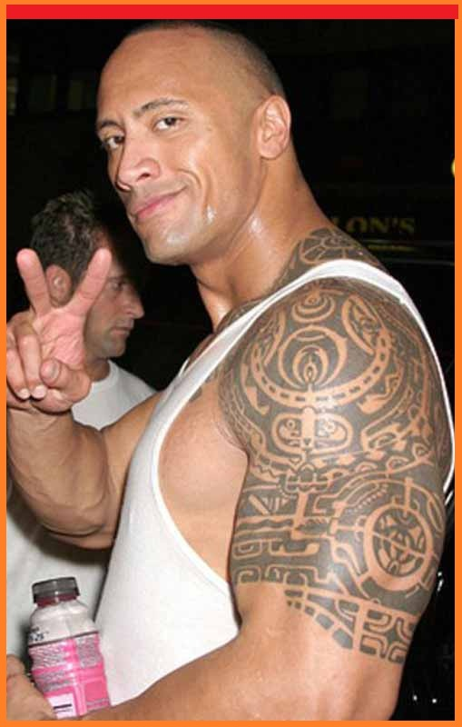 awesome dwayne johnson tribal tattoos design. Black Bedroom Furniture Sets. Home Design Ideas