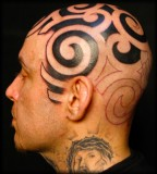Terrible Tribal Tattoos on Head
