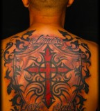 Tribal Tattoos Design on Back for Men