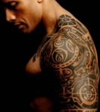 Amazing The Rock Tribal Tattoo Design