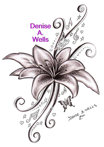 Lily Song Tattoo Sketch Design By Denise A Wells Tattoomagz