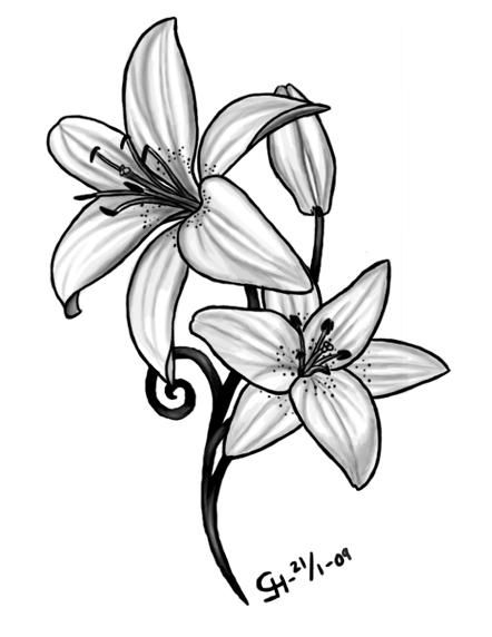ae292a61c Lily Tattoo Meaning Ideas Image - TattooMagz