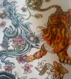 Tattoo Design Tiger Lily Artwork Sample