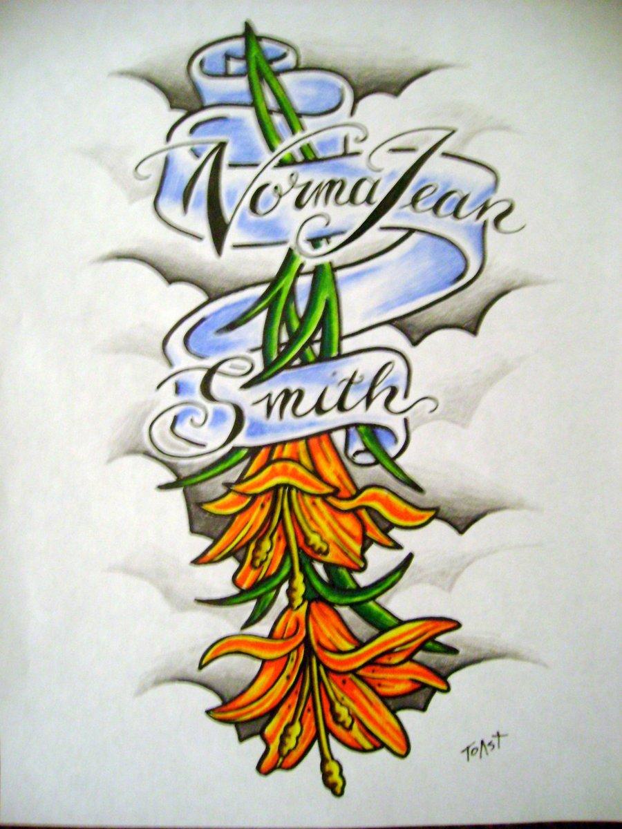 Tiger Lily Tattoo Design Artwork