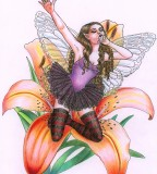Tigerlily Fairy Tattoo Design Sample