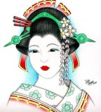 Art Traditional Japanese Geisha Tattoo Designs