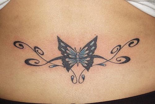Terrific Butterfly Tramp Stamp Tattoo Wallpaper