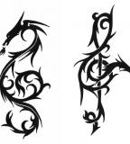 Dragon Treble Clef Tattoo Design