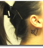 Music Tattoo Design Behind The Ear