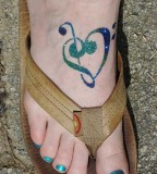 Blue / Green Tattoo Ideas Of Music