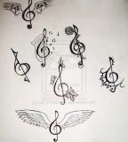 Clef Tattoo Design For Temporary tattoo