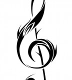 Treble Clef Tattoo - Tribal Tattoo Design