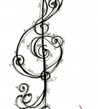 Trebleg Clef Music Art Tattoo