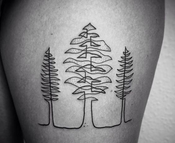 tree-autumn-tattoo-on-leg