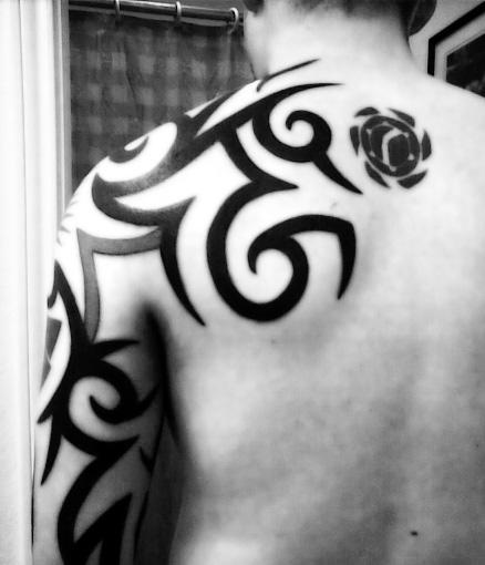 Black And White Tribal Sleeve Tattoos Tribal Tattoo Arm Sleeve