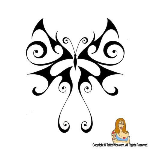 Awesome Tribal Butterfly Tattoo Design Tattoomagz