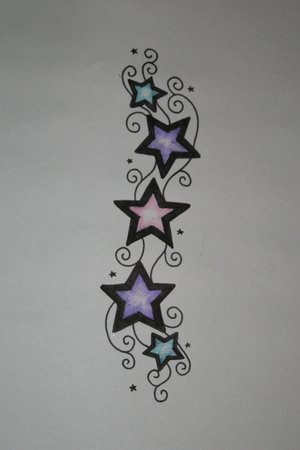 Awesome Nautical Stars Wings Tribal Tattoo Design By