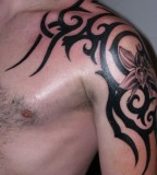 Upper-Arm / Over-shoulder Tribal Tattoos Design for Men - Tribal Tattoos
