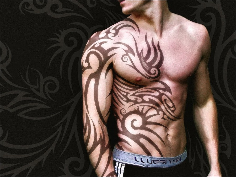 Awesome Masculine Tribal Sleeve & Rib Tattoos Ideas for Men - Tribal ...