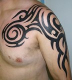 Chest to Arms Tribal Tattoo Designs for Men and Women - Tribal Tatoos