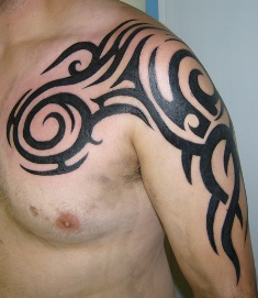 Chest To Arms Tribal Tattoo Designs For Men And Women Tribal