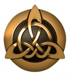 Golden Brown 3D Celtic Trinity Knot Tattoo