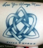 Trinity Knot with Memorable Quote Lower Arm Tattoo