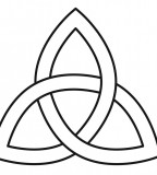 Trinity Knot Basic Design Sketch for Tattoo