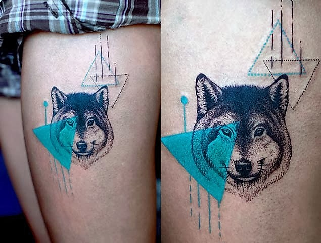 turquoise-wolf-tattoo