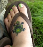 Gorgeous Turtle Tattoo Designs On Feet
