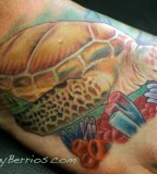 Turtle Of Sea Tattoos On Foot Design
