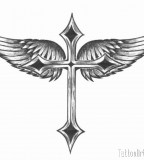 Winged Cross Tattoo Artists Picture
