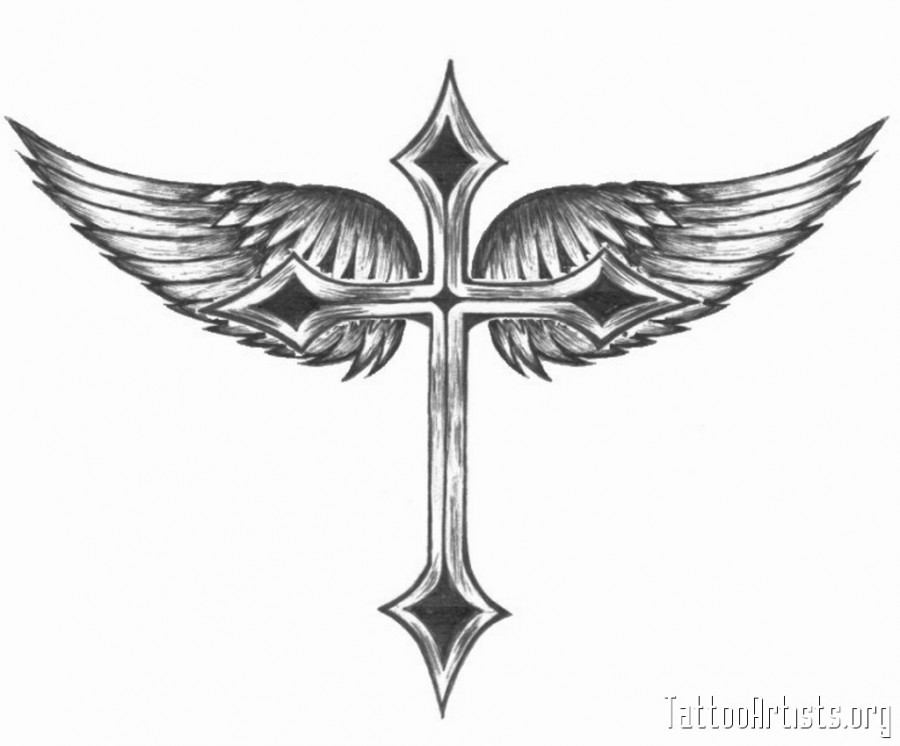 winged cross tattoo artists picture tattoomagz rh tattoomagz com winged cross tattoo designs Cross with Wings Tattoo Tribal