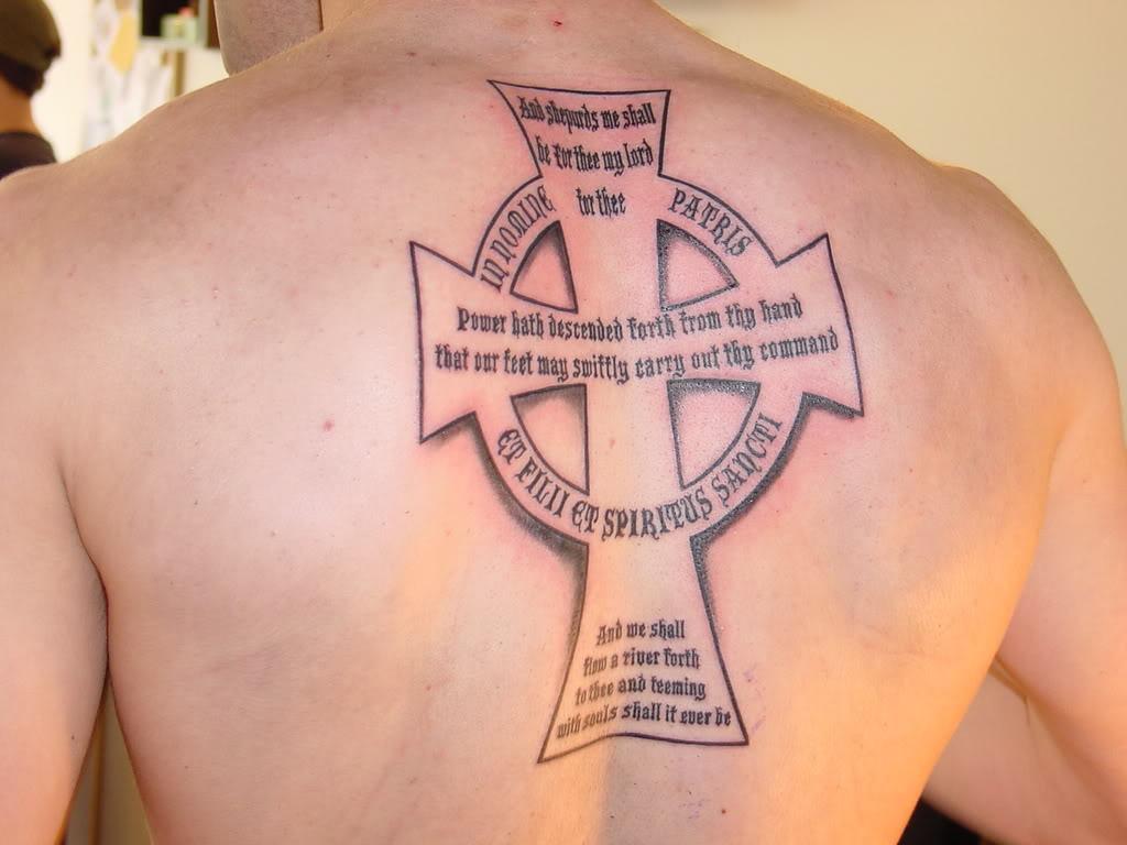Creative cross tattoo on shoulder for men tattoomagz for Veritas aequitas tattoos