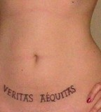 The Boondock Saints Tattoos on Abdomen for Women (NSFW)