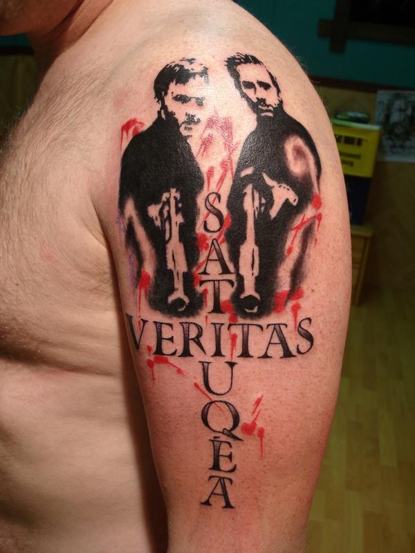 Beautiful veritasaequita tattoo design for arm by for Veritas aequitas tattoos