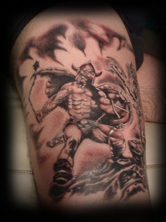 Viking tattoo viking designs tattoo design art flash for Ragnar head tattoo stencil