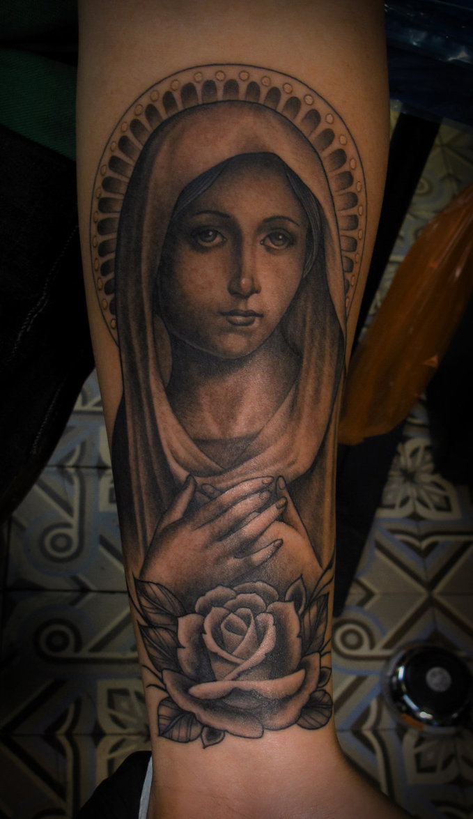 Arm Tattoos Of The Virgin Mary Tattoo Design For Men Religious