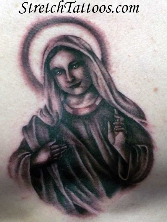 Thanks Virgin mary designs not meant