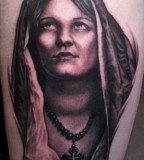 Tattoo Design Inspiration of the Virgin Mary - Christian Tattoos
