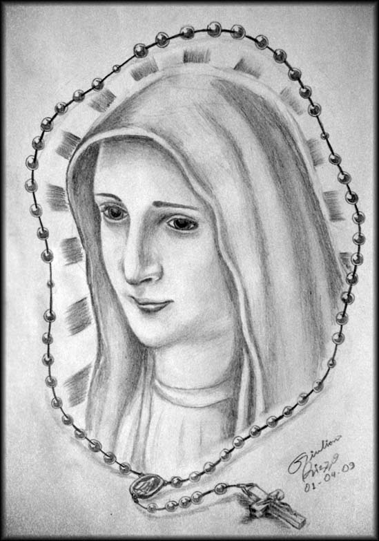 Virgin Mary Design Sketch For Tattoo By Gilrizzo Deviantart