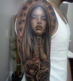 Beautiful Modern-day Interpretation of the Virgin Mary in Tattoo Art